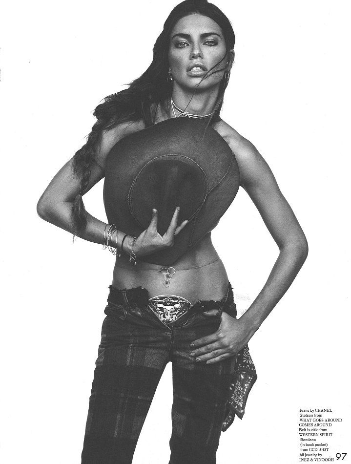 Photo Adriana Lima by Inez & Vinoodh for Garage Issue 5
