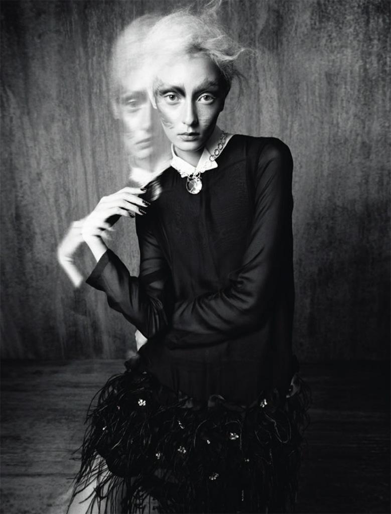 Photo Alexa Yudina by Benjamin Vnuk for Tush Magazine Fall 2013