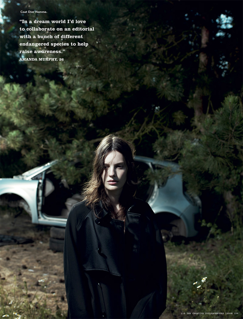 Photo Amanda Murphy by Willy Vanderperre for i D Magazine Fall 2013