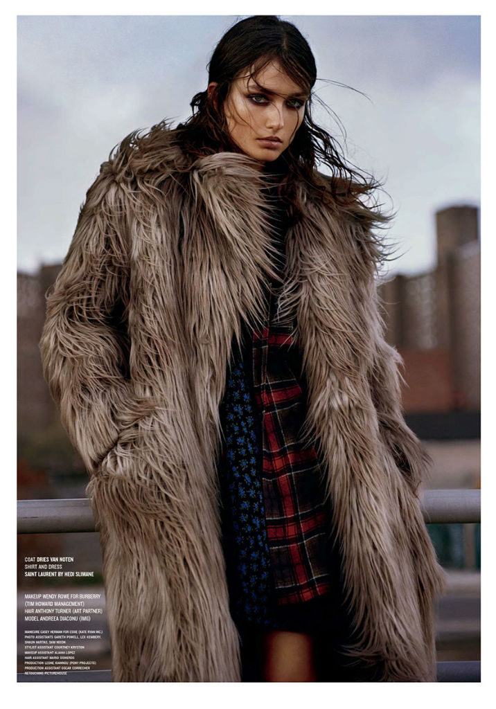 Photo Andreea Diaconu by Alasdair McLellan for V Magazine Fall 2013