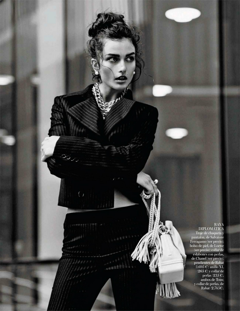 Photo Andreea Diaconu for Vogue Spain October 2013 by Mariano Vivanco