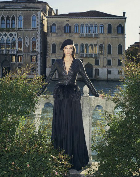 Photo Aymeline Valade by Venetia Scott for Bergdorf Goodman Magazine September 2013