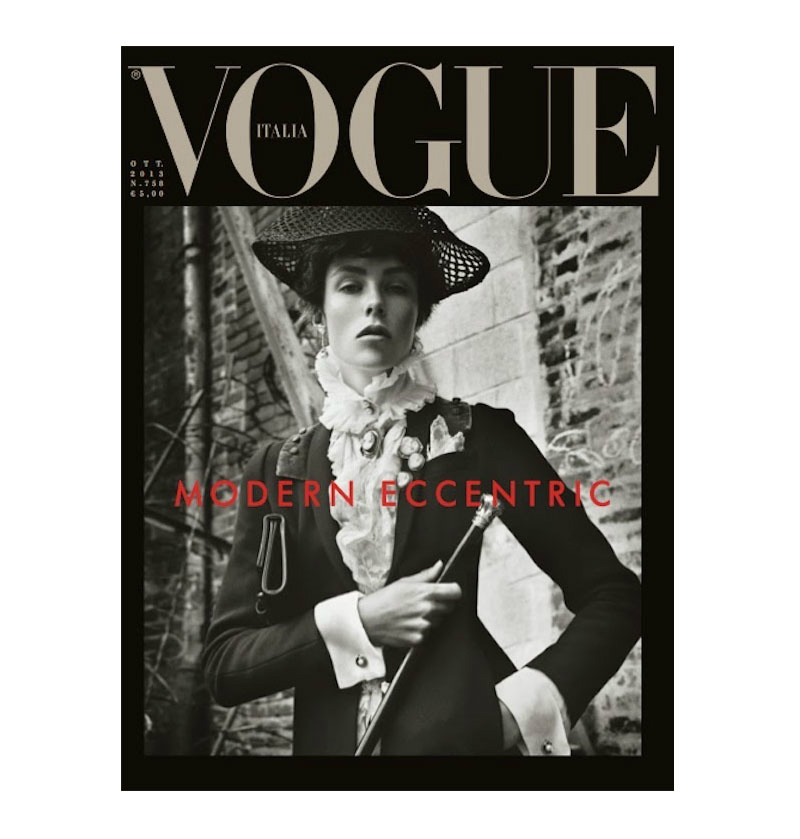 Photo PREVIEW: Edie Campbell by Steven Meisel for Vogue Italia October 2013