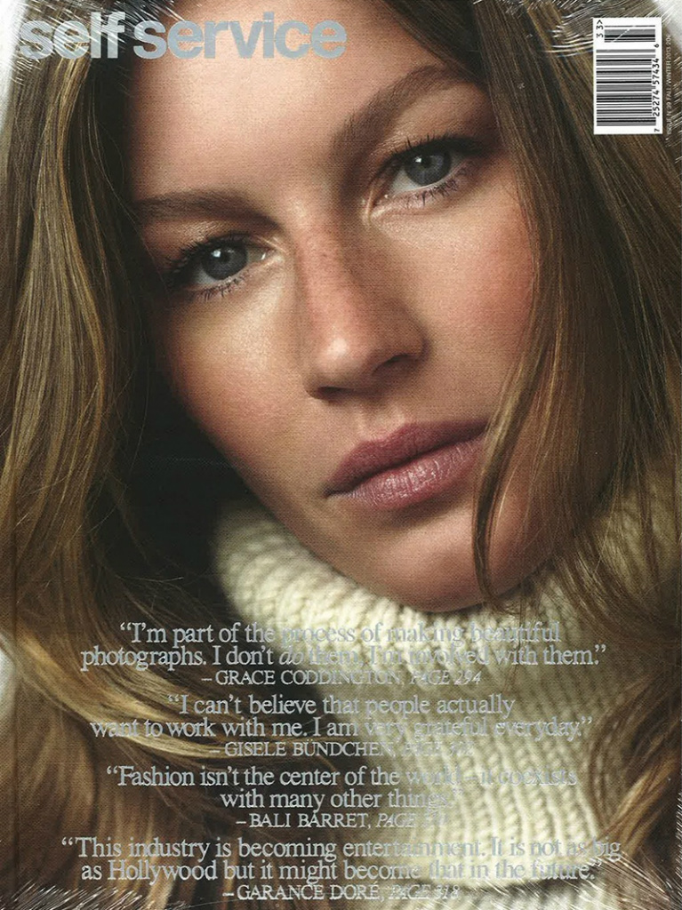 Photo Gisele Bundchen for Self Service Issue 39
