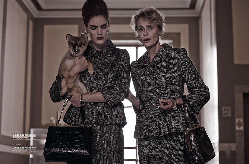 Photo Hilary Rhoda & Lauren Hutton for Muse Magazine Autumn 2013