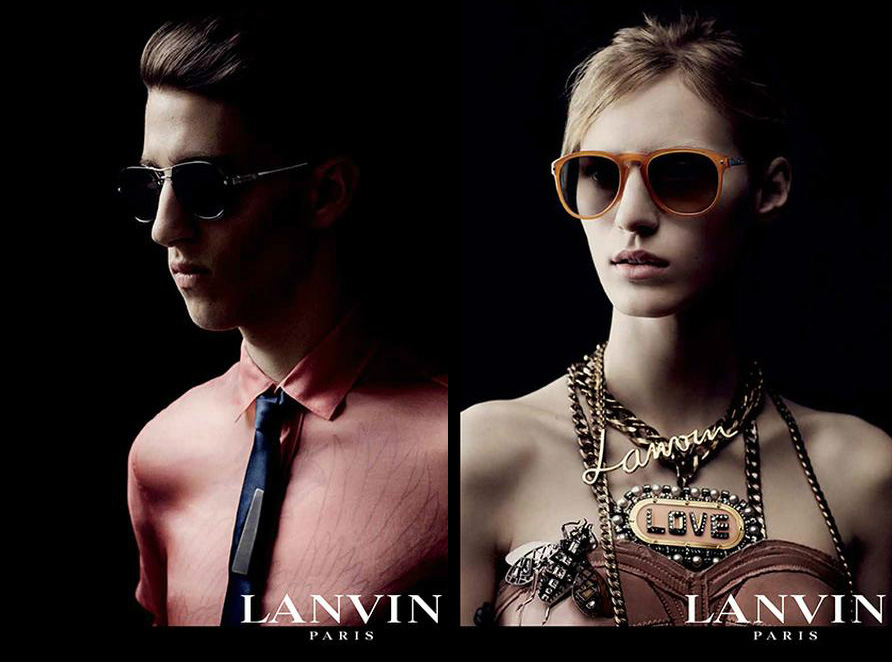Photo Julia Nobis & Miles Langford for Lanvin Eyewear Fall/Winter 2013/2014 Campaign