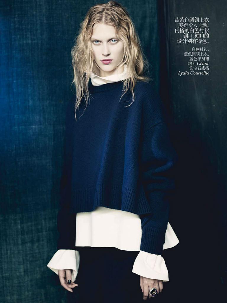 Photo Juliana Schurig, Sasha Luss & Ondria Hardin for Vogue China October 2013