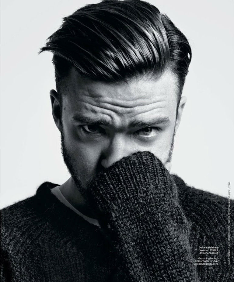 Photo Justin Timberlake by Hedi Slimane for NY Times T Style Men's Fall Fashion 2013