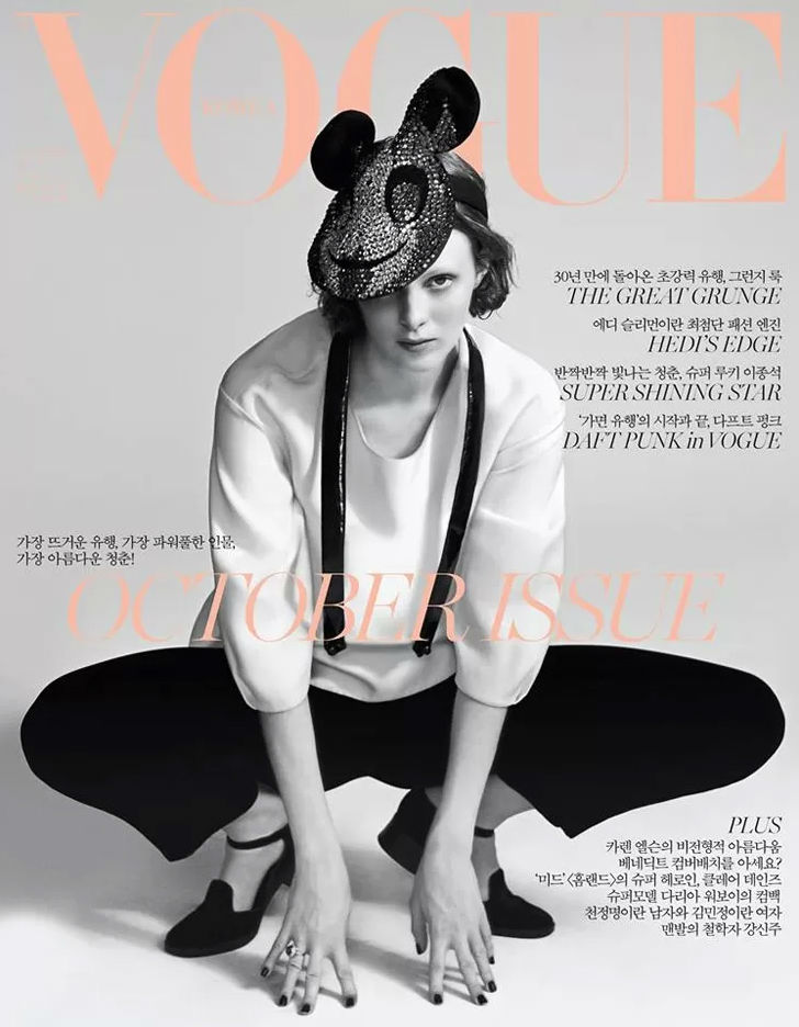 Photo Karen Elson for Vogue Korea October 2013 Cover