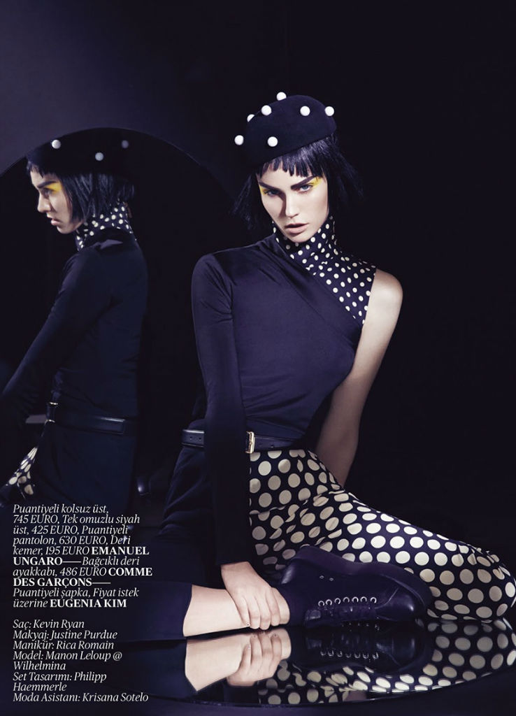 Photo Manon Leloup by Dusan Reljin for Vogue Turkey September 2013