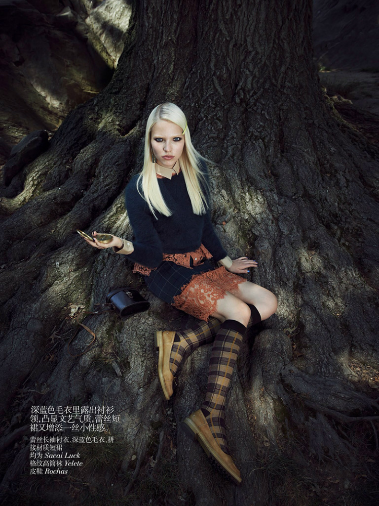 Photo Sasha Luss by Max Vadukul for Vogue China October 2013