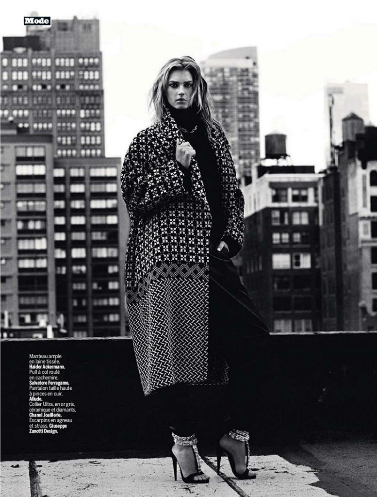 Photo Sigrid Agren by Victor Demarchelier for Lexpress Styles September 2013