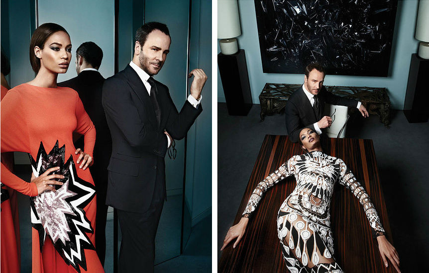 Photo Tom Ford and Joan Smalls for WSJ Magazine Mens Style September 2013