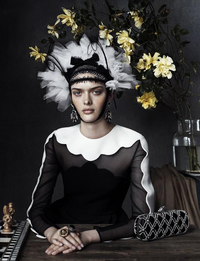 Photo Anna Ewers, Sam Rollinson & Ashleigh Good for Vogue UK December 2013
