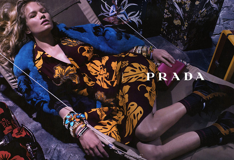 Photo Anna Ewers by Steven Meisel for Prada Resort 2014