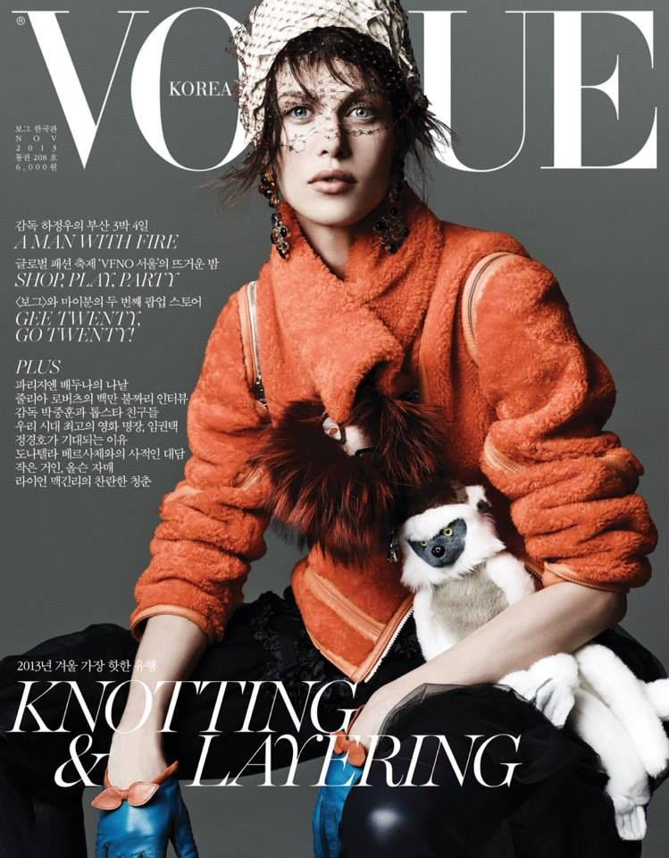 Photo Aymeline Valade for Vogue Korea November 2013 Cover
