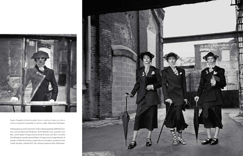 Photo Brooklyn Dandies by Steven Meisel for Vogue Italia October 2013