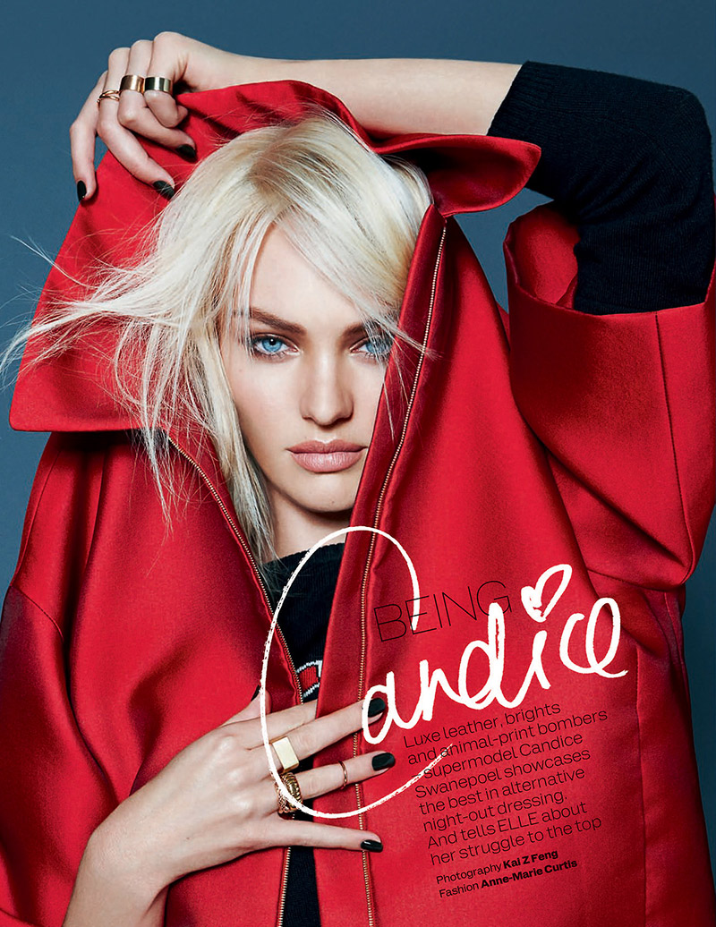 Photo Candice Swanepoel for Elle UK December 2013