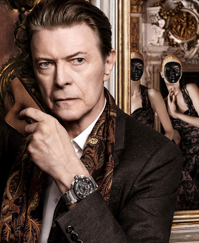 Photo David Bowie & Arizona Muse by David Sims for Louis Vuitton The Art of Travel