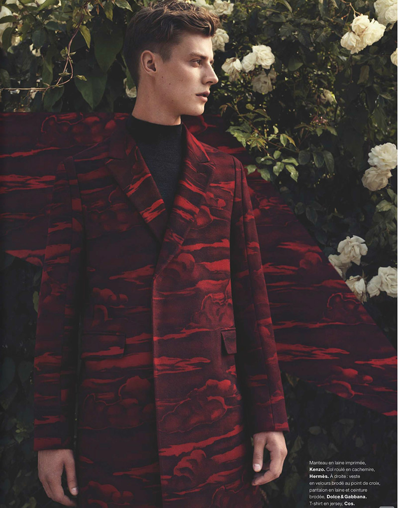 Photo Janis Ancens by Jacob Sutton for Numero Homme Issue 26