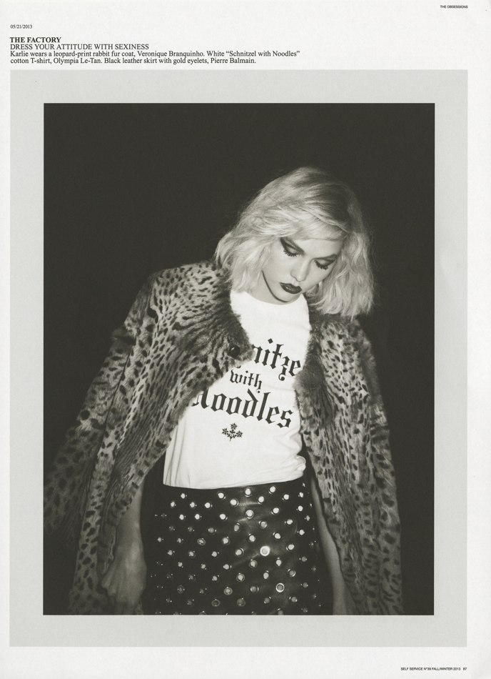 Photo Karlie Kloss by Ezra Petronio for Self Service Issue 39