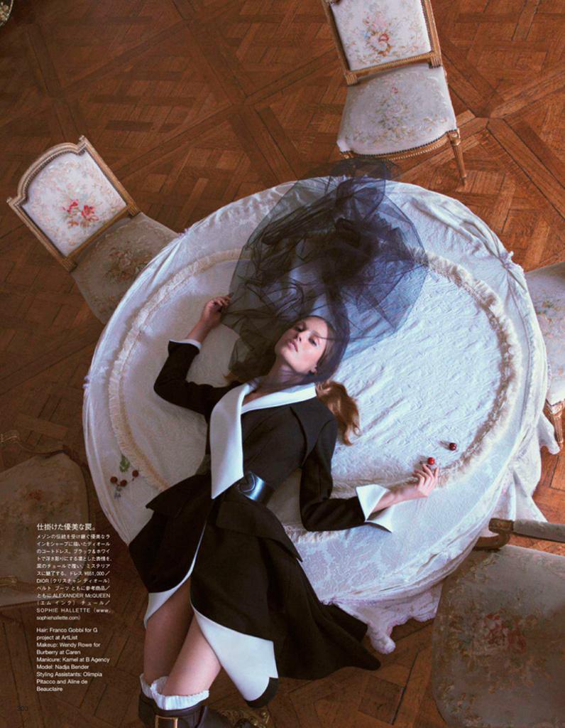 Photo Nadja Bender by Camilla Akrans for Vogue Japan November 2013