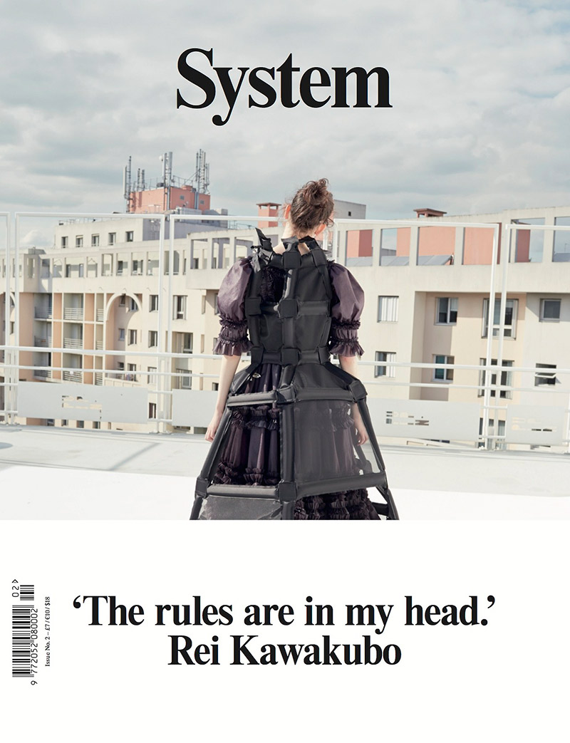 Photo Rei Kawakubo. System Magazine Issue 2