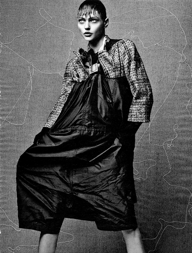 Photo Sasha Pivovarova by Craig McDean for Interview Magazine October 2013