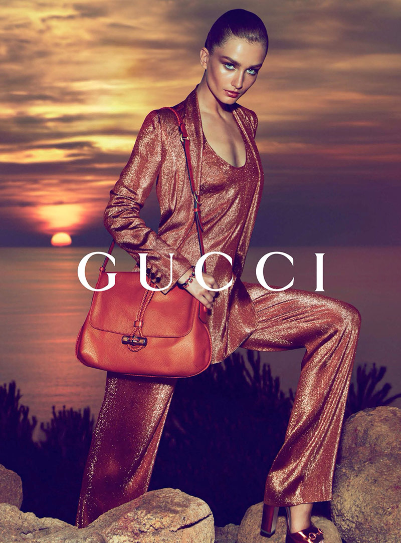 Photo Andreea Diaconu by Mert & Marcus for Gucci Cruise 2014