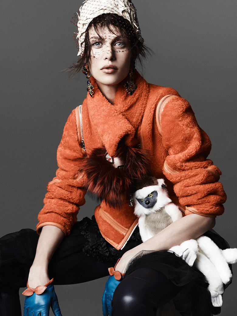 Aymeline Valade for Vogue Korea November 2013