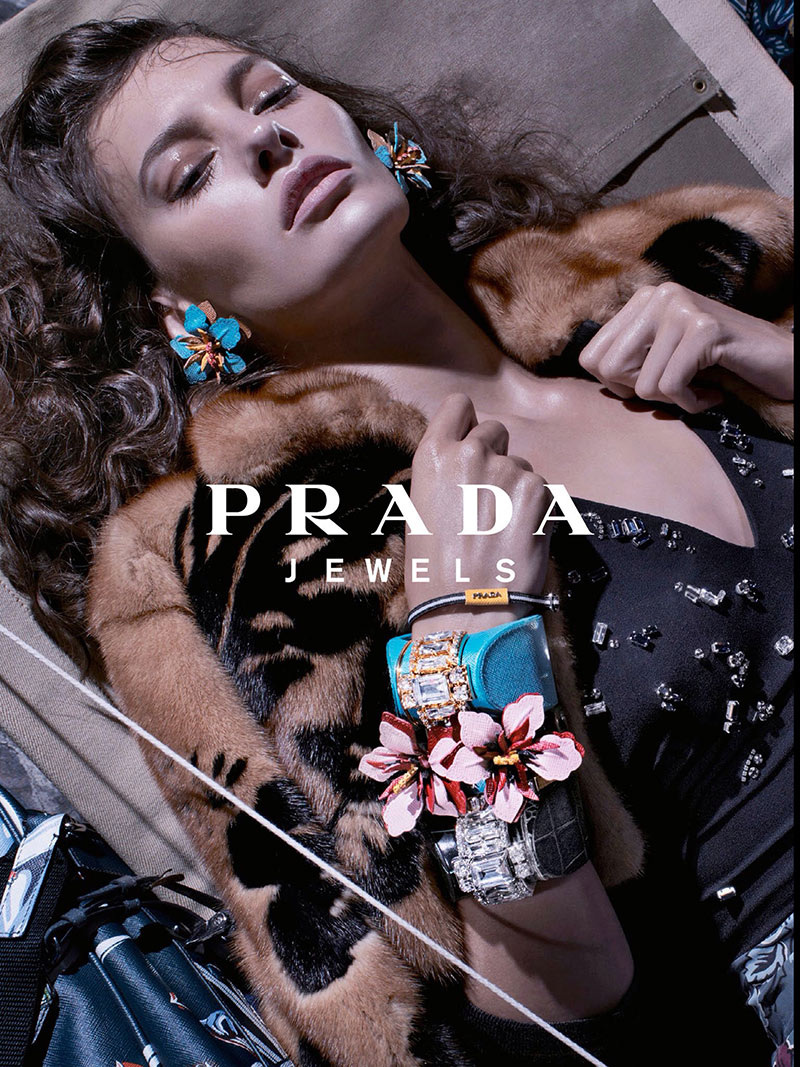 Photo Cameron Russell & Amanda Murphy by Steven Meisel for Prada Resort 2014 Campaign