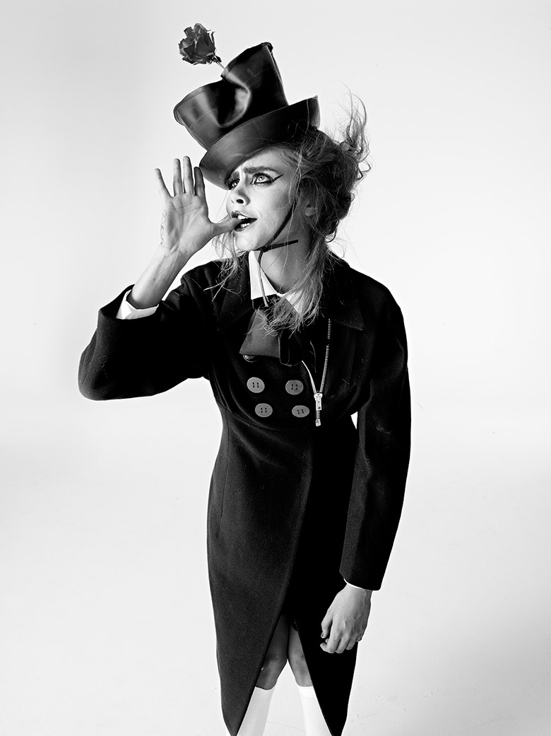 Cara Delevingne for i D Magazine Winter 2013