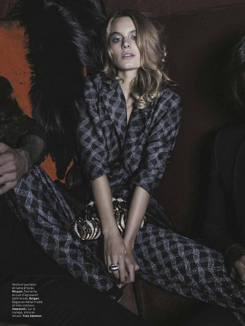Camille Rowe for LOfficiel Paris December/January 2013/14