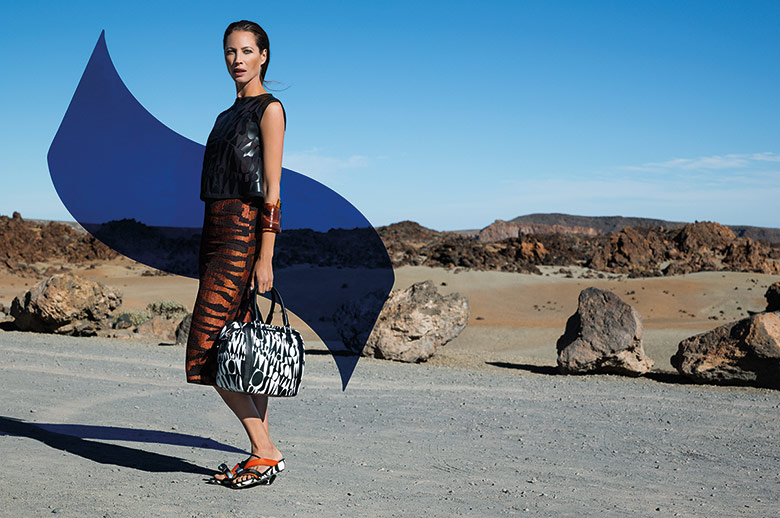 Photo Christy Turlington for Missoni Spring/Summer 2014 Campaign