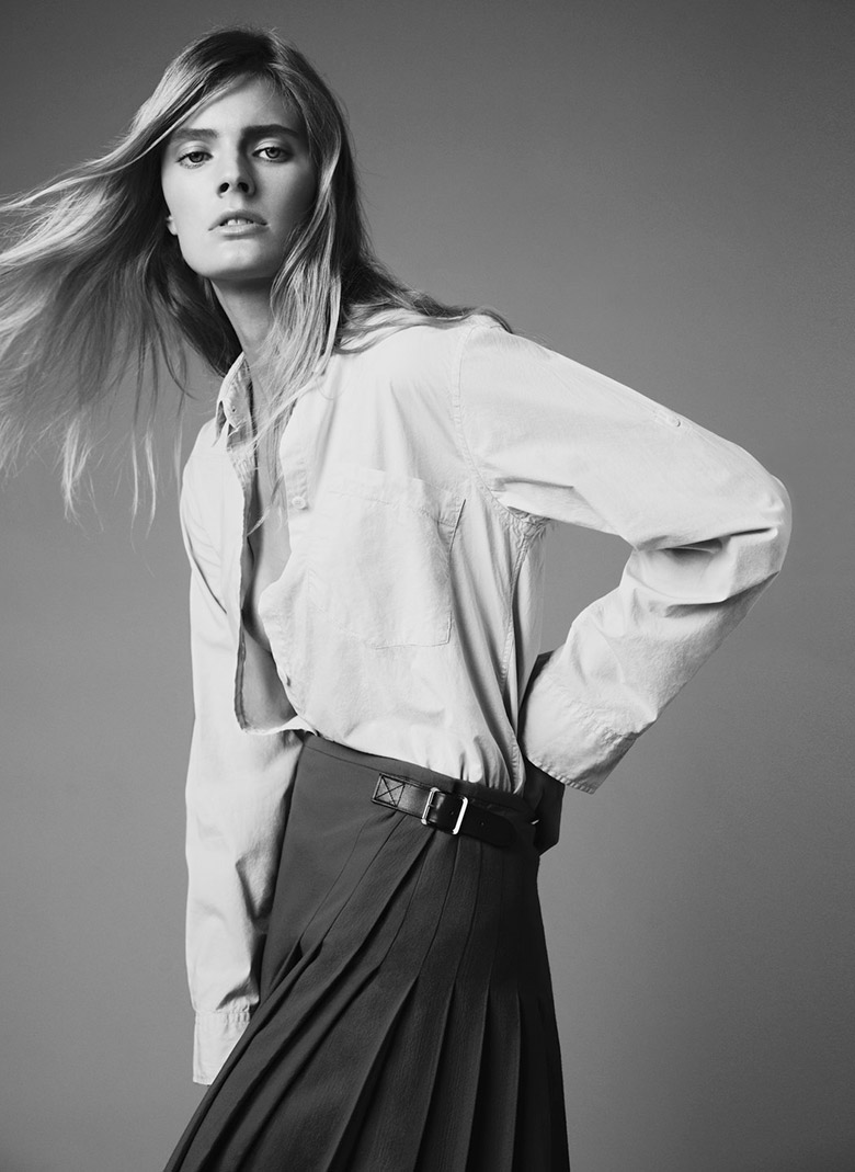 Photo Constance Jablonski by Nick Dorey for Twin Magazine Issue 9