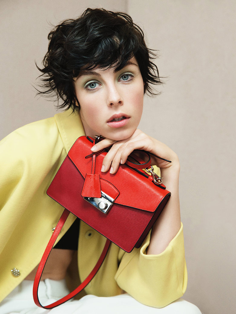 Edie Campbell by Patrick Demarchelier for Vogue UK January 2014