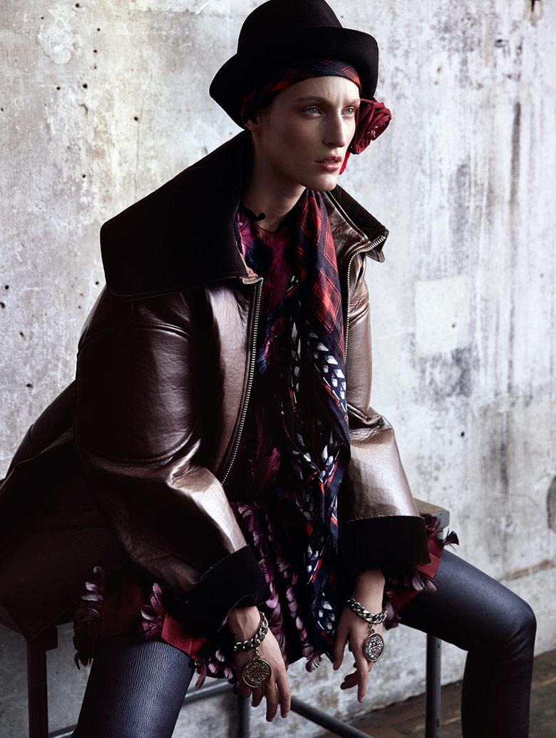 Photo Franzi Mueller by Benjamin Vnuk for Elle Sweden January 2014