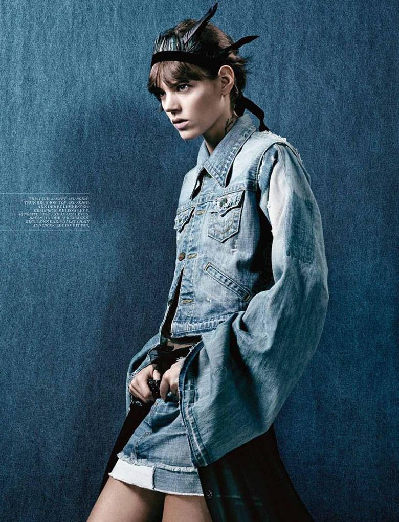 Photo Freja Beha Erichsen by Craig McDean for Interview Magazine