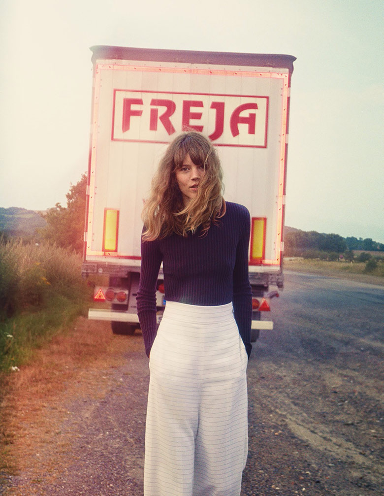 Freja Beha Erichsen by Cass Bird for Vogue UK January 2014