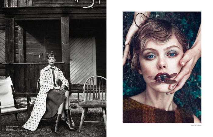 Photo Frida Gustavsson by Boe Marion for Scandinavia S/S/A/W Spring/Summer 2014