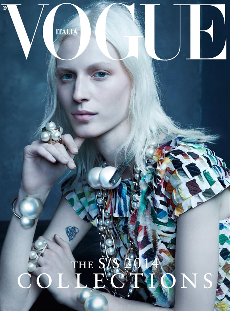 Photo Julia Nobis by Steven Meisel for Vogue Italia January 2014
