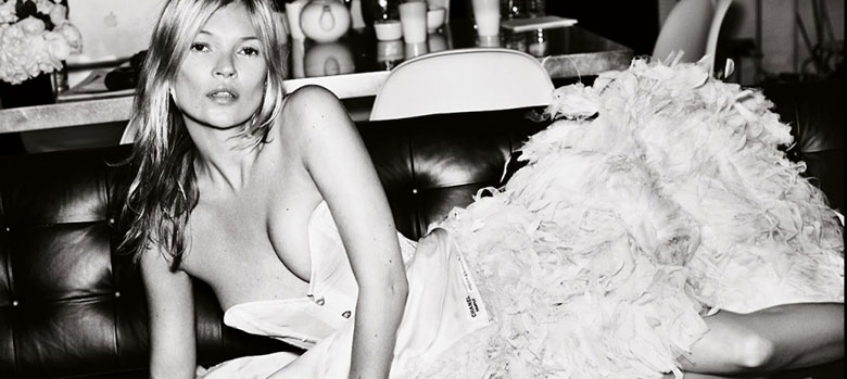 Photo Kate Moss by Mert & Marcus