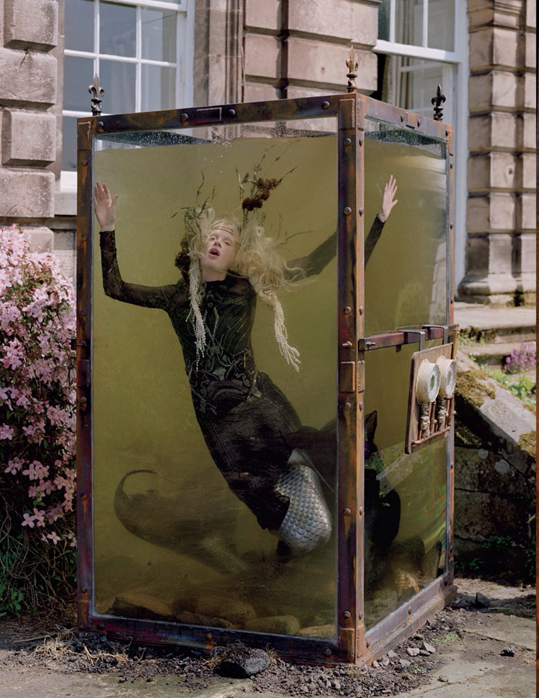 Photo Kristen McMenamy by Tim Walker for W Magazine December 2013