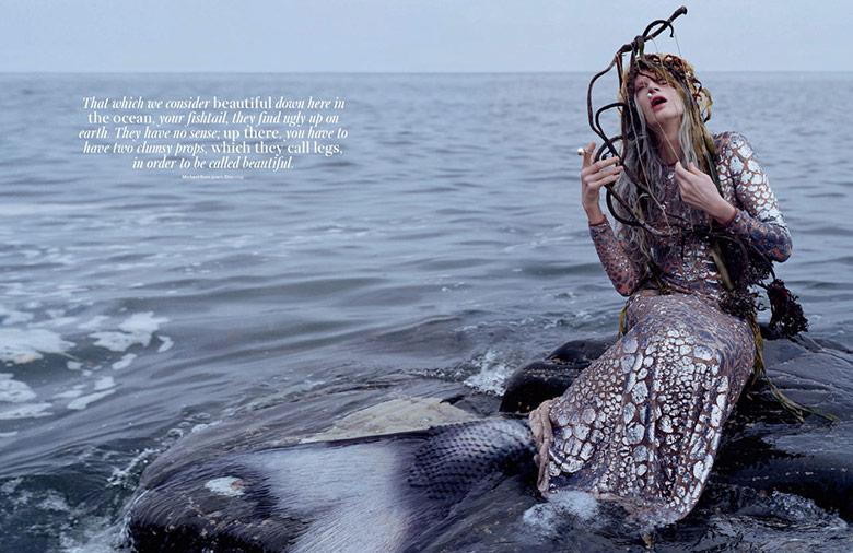 Photo Kristen McMenamy by Tim Walker for W Magazine December 2013