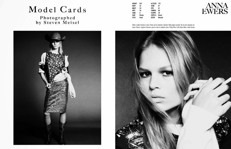 Photo Models Cards by Steven Meisel for Vogue Italia December 2013