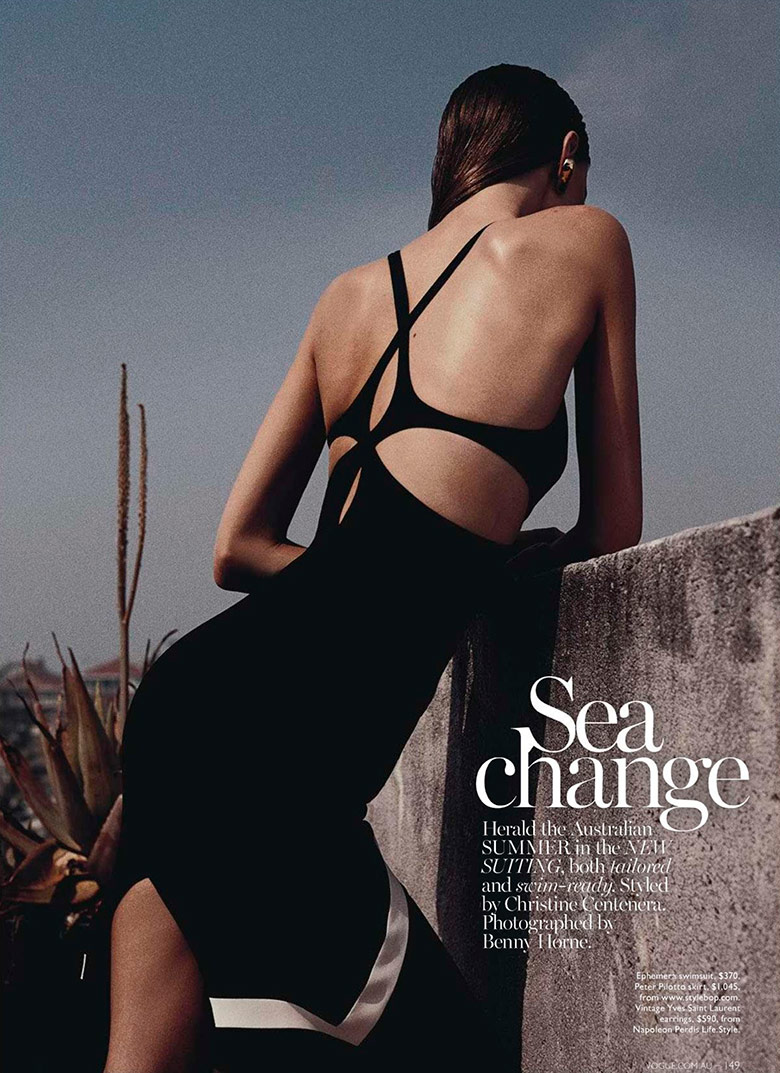 Nicole Pollard by Benny Horne for Vogue Australia January 2014