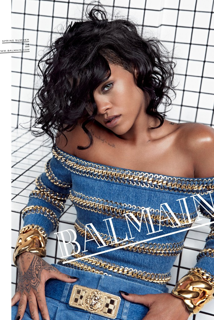 Photo Rihanna by Inez & Vinoodh for Balmain S/S 2014