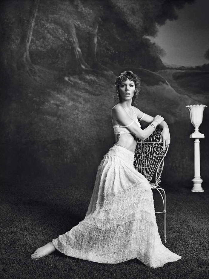 Photo Freja Beha Erichsen by Inez & Vinoodh for Vogue Paris February 2014