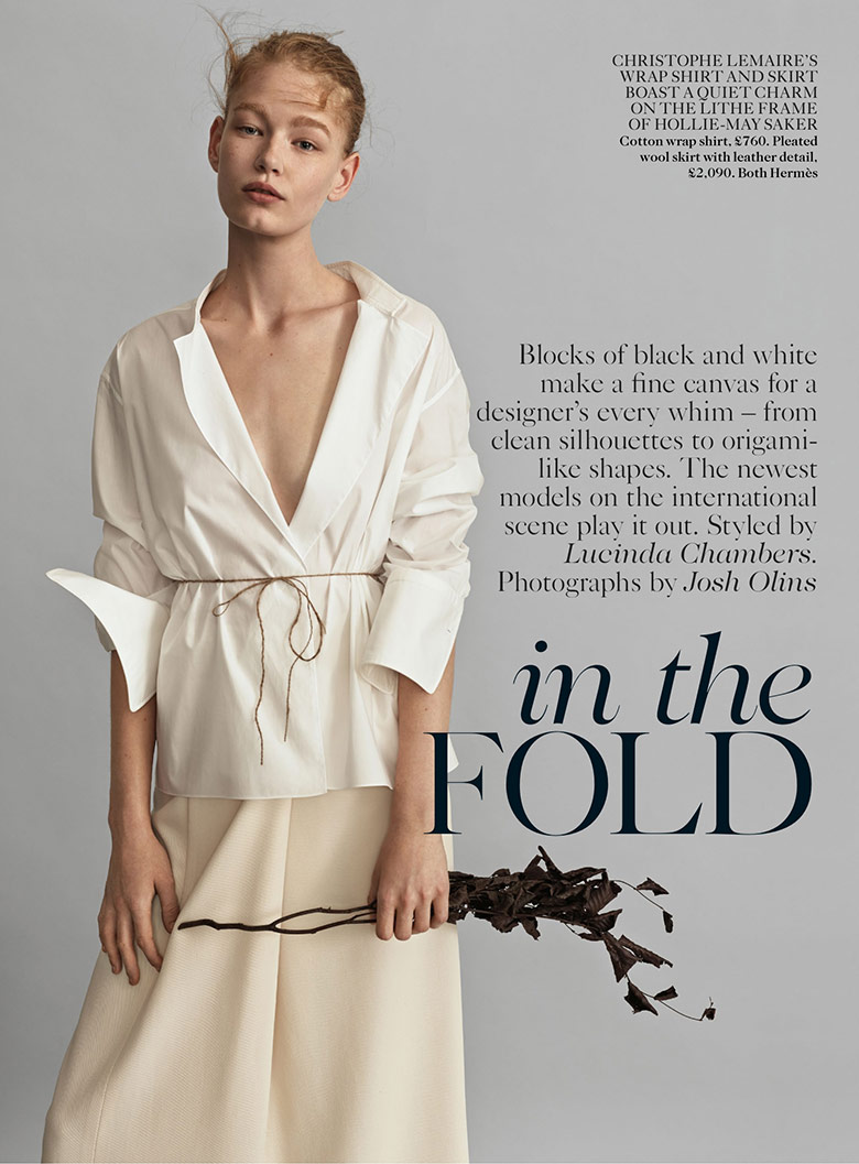 Photo In The Fold by Josh Olins for Vogue UK February 2014