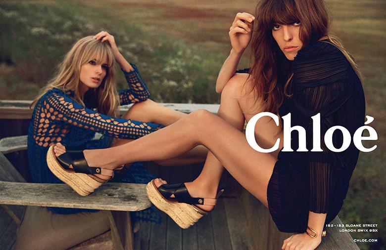 Photo Julia Stegner & Lou Doillon for Chlóe Spring/Summer 2014 Campaign